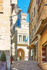 Wall Mural - Old street in San Marino