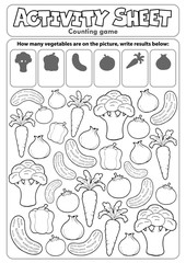 Poster Enfants Activity sheet counting game 5
