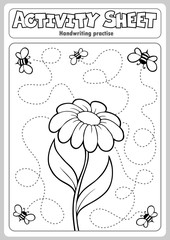 Door stickers For Kids Activity sheet handwriting practise 1
