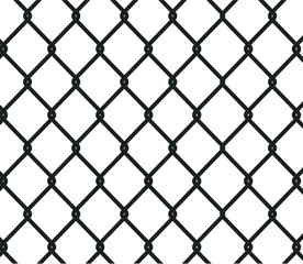 Chain link fence background. silhouette of metal wire mesh, pattern