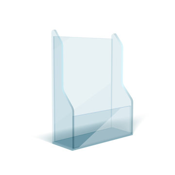 Blank Flyer Glass Or Plastic Transparent Stand