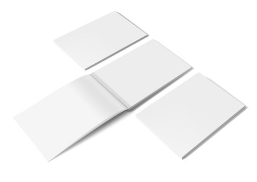 White Clear A4 Brochure Hard Cover On White