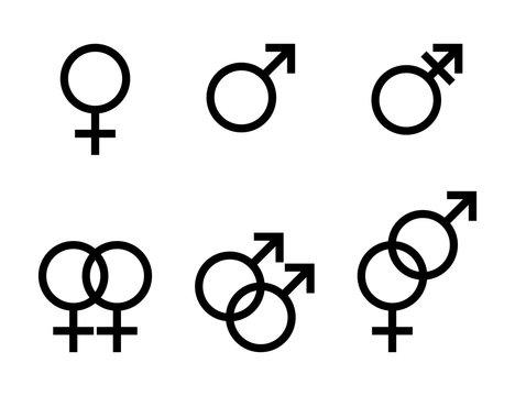 性別記号のベクターイラストセット