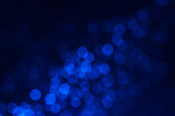 blue glitter vintage lights background,bokeh background,defocused Wall mural