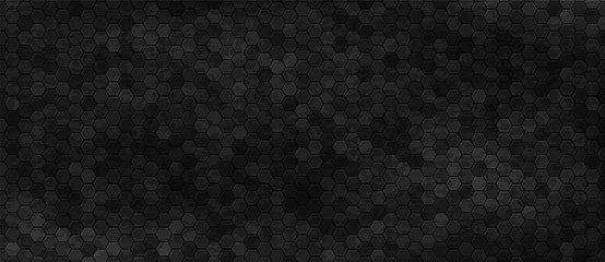 Black wall with hexagon tiling