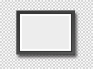 Black wall photograph or painting frame mock