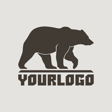 Bear profile llogo sign vector pictogram illustration isolated