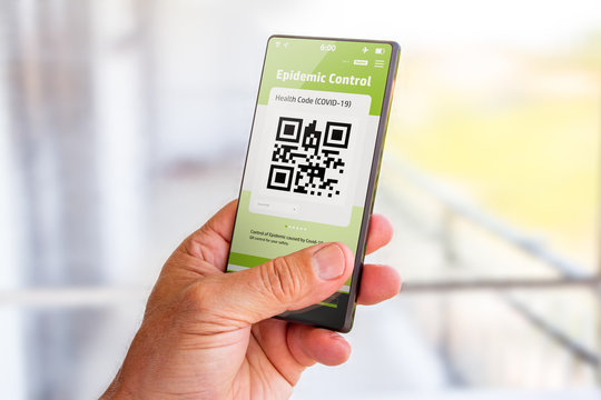 Epidemic Control, QR Code on mobile
