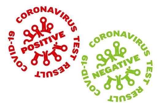 Coronavirus Test Result Stamp Layouts