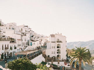 view of the city of Frigiliana, Spain Fotobehang