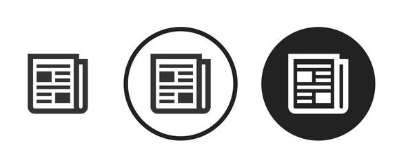 Newspaper icon . web icon set .vector illustration