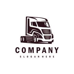 Truck logo vector design. Awesome a truck logo. A truck logotype.