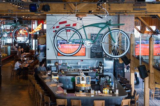 Amsterdam Brewhouse interior,  Toronto, Canada