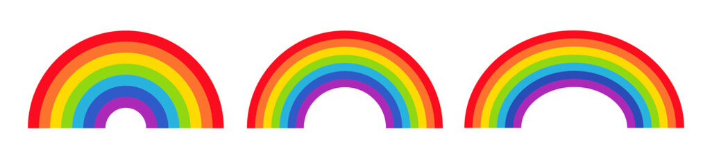 Vector illustration of rainbow icon