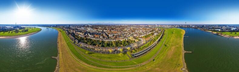 Düsseldorf Oberkassel 360° Airpano Germany Fototapete