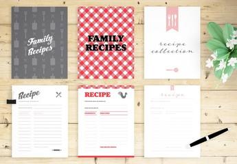 Full Page Recipe Book Layout Bundle