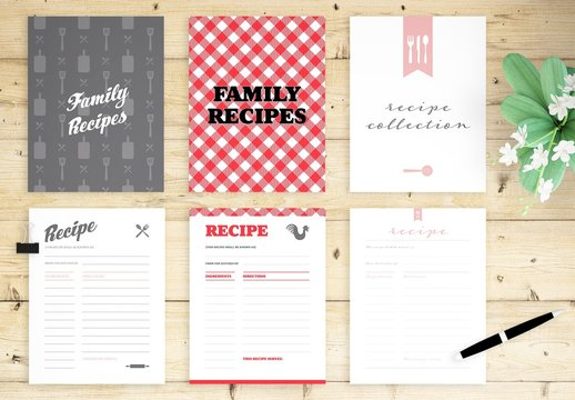 Full Page Recipe Book Layout Bundle