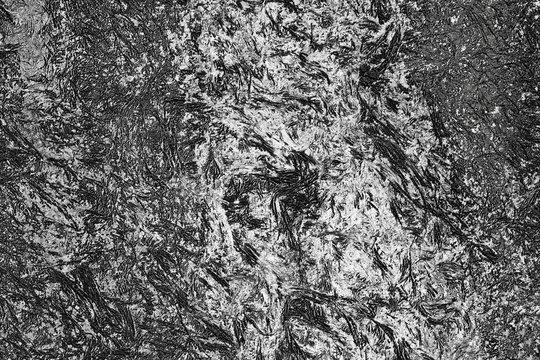 Raue Metalloberfläche Hintergrund - Detail in Schwarz mit weißem Schutzlack