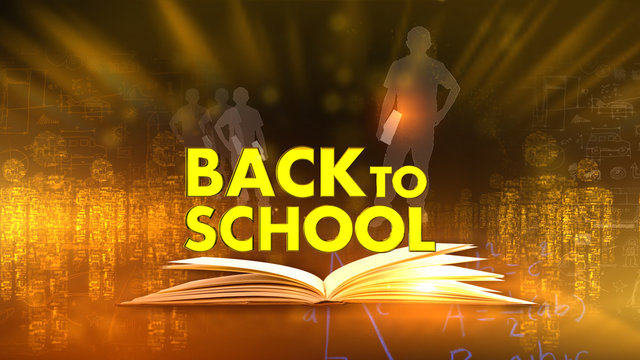 back to school 3D rendering background is perfect for any type of news or information presentation. The background features a stylish and clean layout