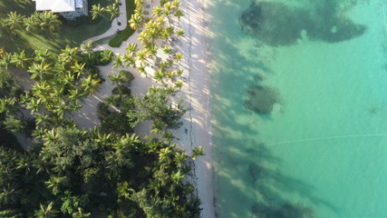 Photo sur Plexiglas Vert corail drone amazing view dominican republic