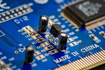 niebieska płytka elektroniczna - fototapety na wymiar