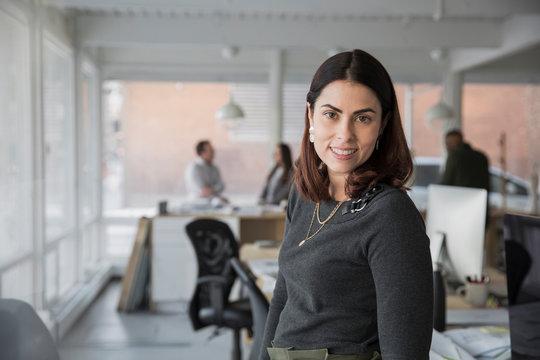 Portrait of businesswoman in creative studio