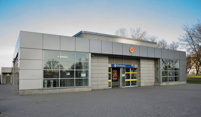 WARSAW. POLAND. 26 DECEMBER 2017 : Slodowiec metro station in Warsaw. Poland
