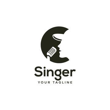 awesome modern singer or choir logo template