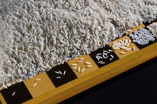 Exponential exponentiell exponentielles   Wachstum Reiskorn Verdoppelung Schachbrett nach Kaiser Legende