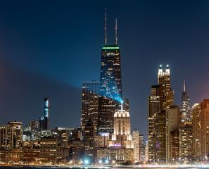 Fototapete - Chicago at night