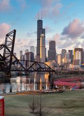 Fototapete - Chicago River