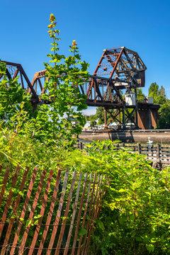 Train bridge near Seattle's Ballard Locks