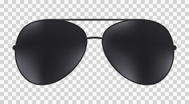 Aviator police isolated sunglasses .