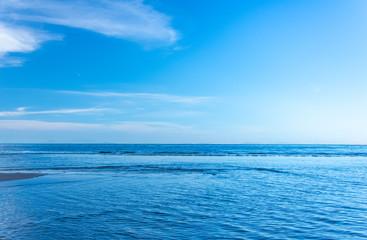 Fototapeten Blau Jeans blue sky and sea