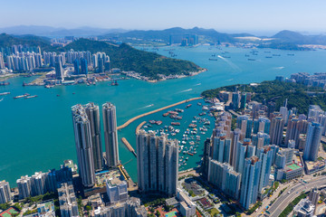Fototapete - Aerial view of Hong Kong city