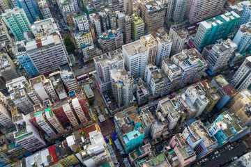 Wall Mural - Top view of Hong Kong city