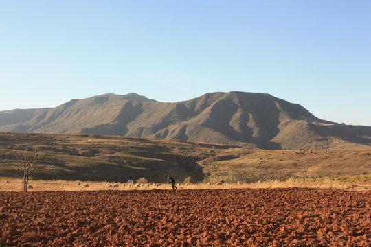 Paysage Malealea Lesotho Afrique - Malealea Landscape Africa