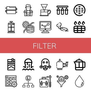Set of filter icons