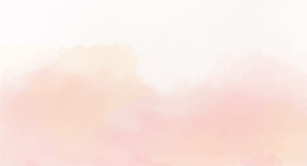 Obraz Soft Pink watercolor background for your design, watercolor background concept, vector. - fototapety do salonu