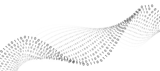 Abstract technology binary code background.Digital binary data and secure data concept with number 0 and 1.