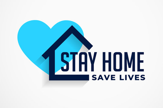 stay home and save lives poster design
