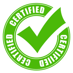 Certified quality vector icon