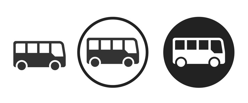 bus icon . web icon set .vector illustration