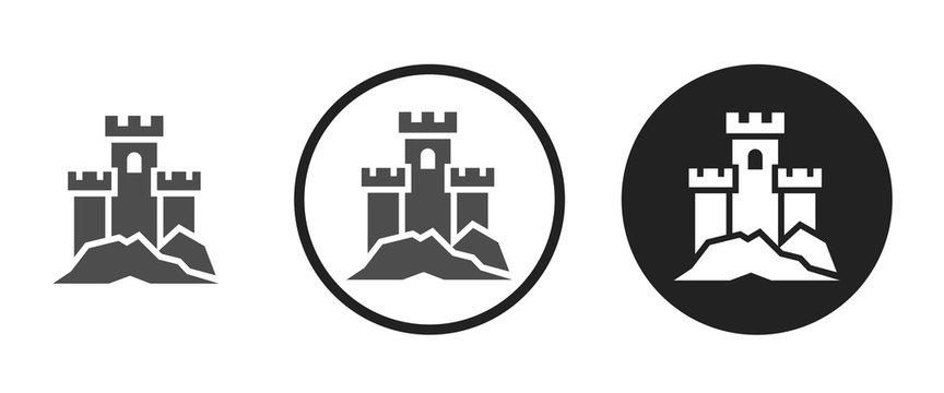 Castle icon . web icon set .vector illustration