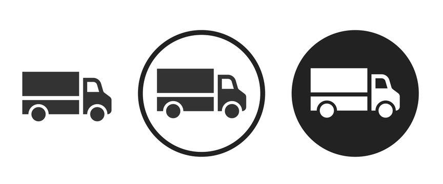 truck icon . web icon set .vector illustration
