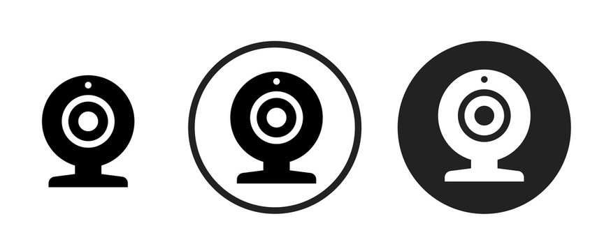 Webcam icon . web icon set .vector illustration