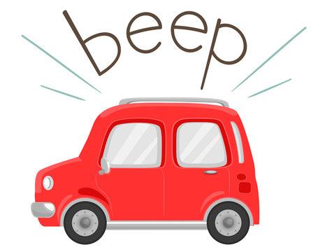Car Onomatopoeia Sound Beep Illustration