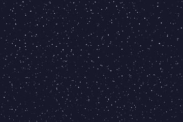 Obraz Stary night sky horizontal background. Vector illustration - fototapety do salonu