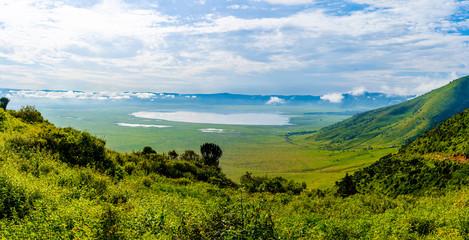 View over Ngorongoro Crater, Tanzania, East Africa (UNESCO World Heritage Site)
