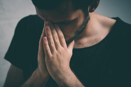 Prayer. Man.